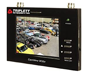 Triplett 8055 CamView W35v CCTV Wrist Mounted Test Monitor with 3.5