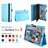 Elsse (TM) Premium Folio Case with Stand for Microsoft Surface Pro 3 (Keyboard and Tablet NOT included) (Surface Pro 3, Light Blue)