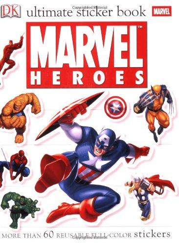 Ultimate Sticker Book: Marvel Heroes (Ultimate Sticker Books) (Coloring Book Marvel compare prices)