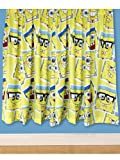 Character World 54-inch SpongeBob Squarepants Framed Curtains, Multi-Color
