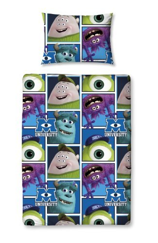 Character World 125 X 150 Cm Disney Monsters University Junior Rotary Bedding Bundle, Multi-Colour