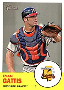2012 Topps Heritage Minor League Baseball Card # 99 Evan Gattis Mississippi Braves --... by Topps