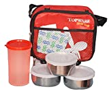 Lyly Plastic Lunch Box Set, 900 ml, Red