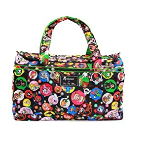 Ju-Ju-Be Super Star Duffel Diaper Bag - Tokidoki Bubble Trouble - Black/Green from Ju-Ju-Be