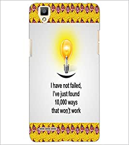 PrintDhaba Quote D-5011 Back Case Cover for OPPO F1 (Multi-Coloured)