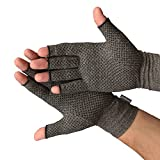 Medipaq® Anti-Arthritis Gloves (Pair) - Providing Warmth and Compression to Help Increase Circulation Reducing Pain and Promoting Healing (1x Pair with Grip (Medium))