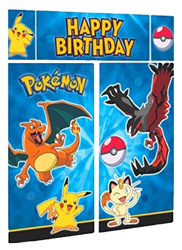 Napkins 5 Count Pokemon Scene Setters Decorating Kit, Blue