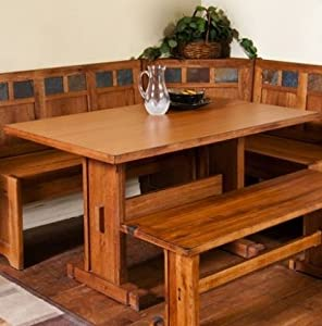 Amazon.com: Sedona Breakfast Nook Set w/ Side Bench 4PC Set: Patio ...