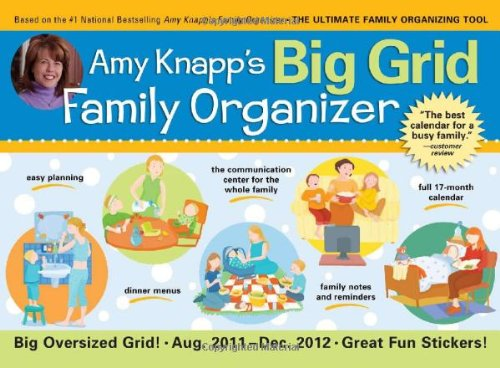 2012 Amy Knapp's Big Grid Family Organizer wall calendar: The essential organization and communication tool for the entire family