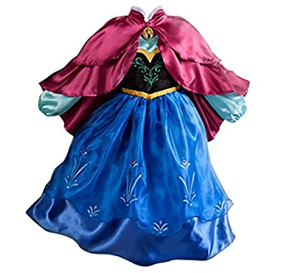 Uget Snow Queen Princess Party Cosplay Costume Girls Dress Up