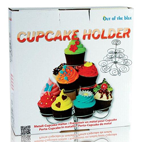 4 x soporte de metal cupcake-soporte para Cupcakes decoración para magdalenas Cupcake árbol 23,5 x 18,5 cm
