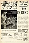 1950 Advert South Bend Lathe Drill Press Turret Power Tool Collet Shaper Bench - Original Print Ad