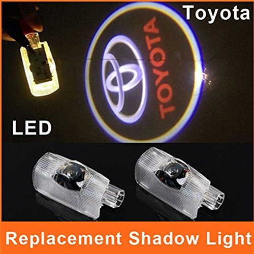 Hamist Toyota Logo Led Door Light Special Toyota Emblem Replacement Projector Courtesy Welcome Laser Land Cruiser,Auto Ghost Shadow Pack Of 2