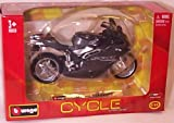 Burago grey MV agusta F4 SPR bike 1.18 scale model