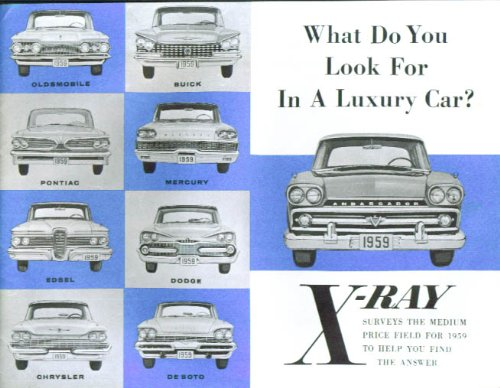 1959 American Motors Ambassador X-Ray Comparison Brochure