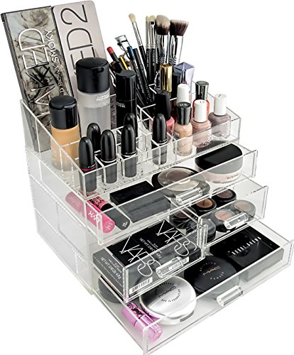 organizta chic box acrylic makeup organizer cosmetic organizer with deep drawers acrylic. Black Bedroom Furniture Sets. Home Design Ideas