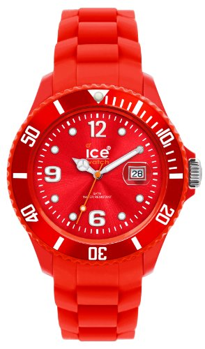 Ice-watch Unisex SILI SI.RD.U.S.09 Red Quartz Watch with Red Dial