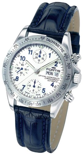 Fortis Men's 630.10.92 LC.05 Cosmonauts Chronograph Automatic Day and Date Leather Croc Watch