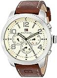 Tommy Hilfiger Men's 1791107 Casual Sport Analog Display Quartz Brown Watch
