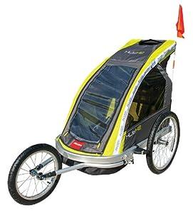 Allen Sports Premier 2-Child Aluminum Bike Trailer Racing Stroller, Green Grey by Allen Sports