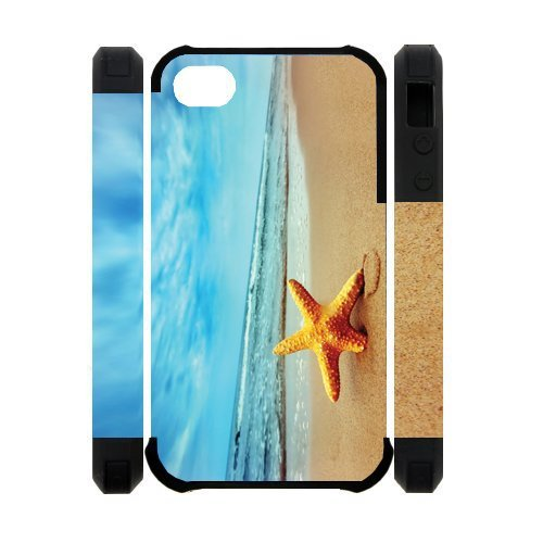 3D Starfish Running Best Custom Cell Phone Case Cover for iPhone 4, iPhone 4S at Amazon.com