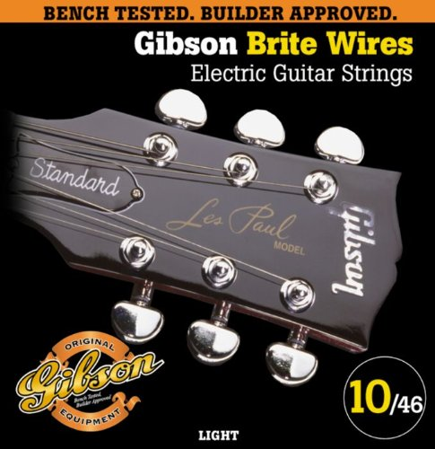 Gibson Brite Wires Electric Guitar Strings, Light