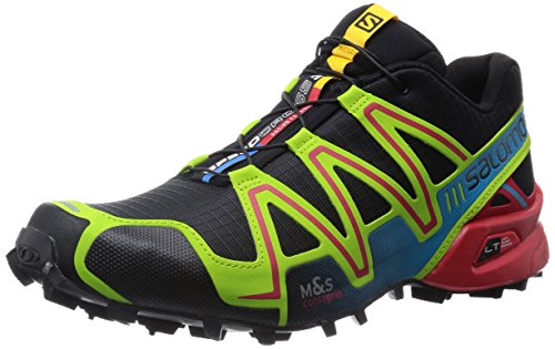 Salomon Speedcross 3 Trail Laufschuhe black-granny green-bright red - 48