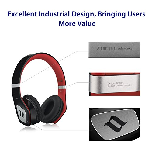 wireless headphones bluetooth 4 0 by noontec zoro ii headphones with high quality audio. Black Bedroom Furniture Sets. Home Design Ideas