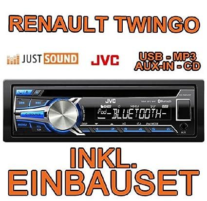 Renault twingo 1 jVC-kD-r852BT cD/mP3/uSB avec kit de montage