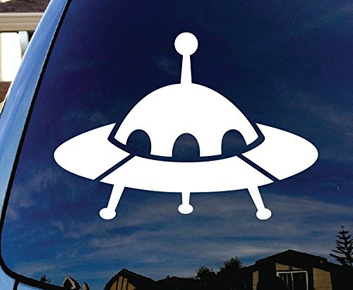 UFO Alien Spaceship Car Window Vinyl Decal Sticker | 5 X 3.5 In (Real Tree Car Window Decal compare prices)