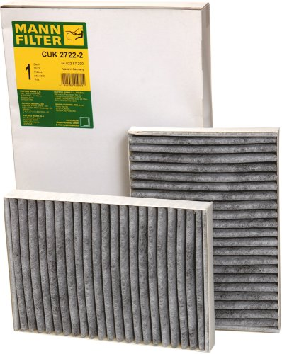 Mann-Filter CUK 2722-2 Cabin Filter With Activated Charcoal for select  Mercedes-Benz models -Set of 2