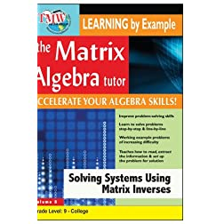 Matrix Algebra Tutor: Solving Systems Using Matrix Inverses