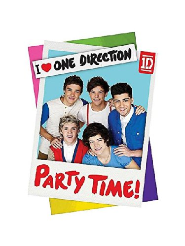One Direction Invitations w/ Envelopes (8ct)