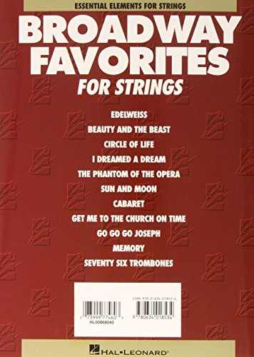 Essential Elements Broadway Favorites for Strings - Violin 1/2