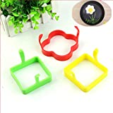 HeroNeo® Silicone Square Flower Egg Fry Fried Oven Poacher Pancake Poach Mould Tool