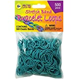 Pepperell Stretch Band Bracelet Loops, Turquoise, 500 Per Package