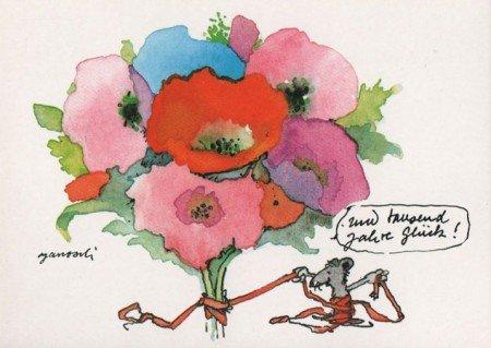 Janosch Postkarte Tausend Jahre Glück