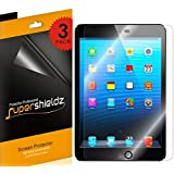 [3-Pack] SUPERSHIELDZ- Apple iPad mini 3 / iPad mini 2 / iPad mini Screen Protector Anti-Bubble High Defintion (HD) Clear shield + Lifetime Replacements Warranty [3-PACK] - Retail Packaging