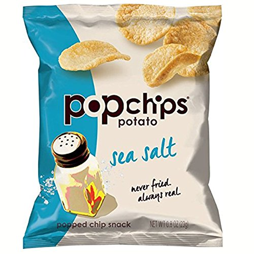 Popchips Potato Chips, Sea Salt Flavor, 0.8oz (Pack of 24) (Sea Salt Popchips compare prices)