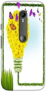 Snoogg floral background Hard Back Case Cover Shield For Motorola G 3rd generation (Moto G3)