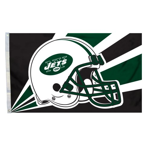 NFL New York Jets 3-by-5 Foot Helmet Flag at Amazon.com