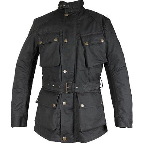 Richa Bonneville Imperméable CIRE Textile Moto Veste/Noir - Small