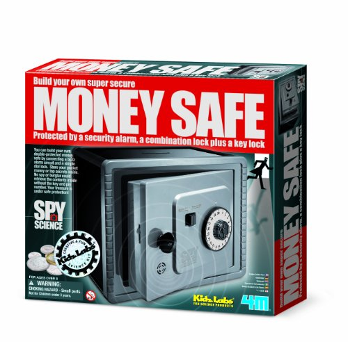 Kidz Labs - Spy Science - Alarmed Safe Bank - Girls Boys Kids Children - Educational Set - Best Selling Birthday Present Gift Fun Toys & Games Idea Age 8+