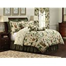 Royal Heritage Home Williamsburg Garden Images Queen Size Comforter Set 9 Piece