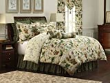 Royal Heritage Home Williamsburg Garden Images Queen Size Comforter Set, 9 Piece