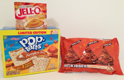 Pumpkin Pop Tarts, Pk 12, Pumpkin Spice Kisses, 1 Pk, Pumpkin Spice Pudding, 1 Box