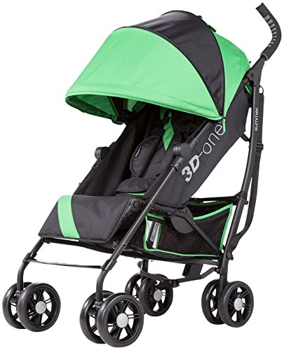 Summer Infant 3D One Convenience Stroller, Brilliant Green