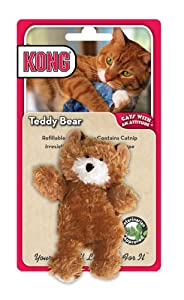 KONG Teddy Bear Catnip Toy, Cat Toy, Brown