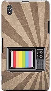 Kasemantra Vintage Television Case For Sony Xperia Z1