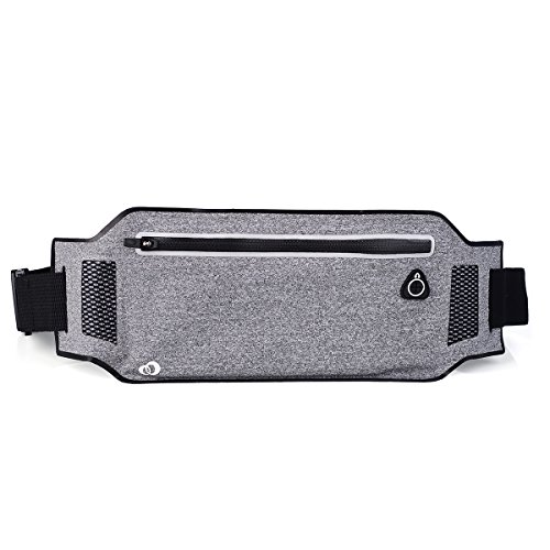 KroO Small Lightweight Sports Waist Band Phone Pouch that fits Upto 6.3 Inch | Grey (Otterbox Lg G3 Symmetry compare prices)